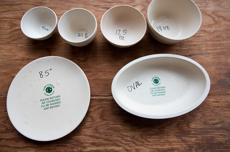"""Planet Bluegrass invested $15,000 in cutting edge eco-plates made from bamboo, sugar cane and corn, which are both compostable and reusable.<br /> More photos:  <a href=""""http://www.dailycamera.com"""">http://www.dailycamera.com</a><br /> (Autumn Parry/Staff Photographer)<br /> August 19, 2016"""