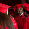 """Jordan Karels talks with fellow graduates prior to Fairview High School's commencement ceremony at 1st Bank Center in Broomfield on Sunday.<br /> More photos:  <a href=""""http://www.dailycamera.com"""">http://www.dailycamera.com</a><br /> Autumn Parry/Staff Photographer<br /> May 22, 2016"""