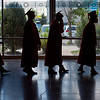 """Graduates line up for Fairview High School's commencement ceremony at 1st Bank Center in Broomfield on Sunday.<br /> More photos:  <a href=""""http://www.dailycamera.com"""">http://www.dailycamera.com</a><br /> Autumn Parry/Staff Photographer<br /> May 22, 2016"""