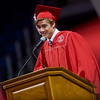 """Daniel Rahn addresses the class of 2016 during Fairview High School's commencement ceremony at 1st Bank Center in Broomfield on Sunday.<br /> More photos:  <a href=""""http://www.dailycamera.com"""">http://www.dailycamera.com</a><br /> Autumn Parry/Staff Photographer<br /> May 22, 2016"""