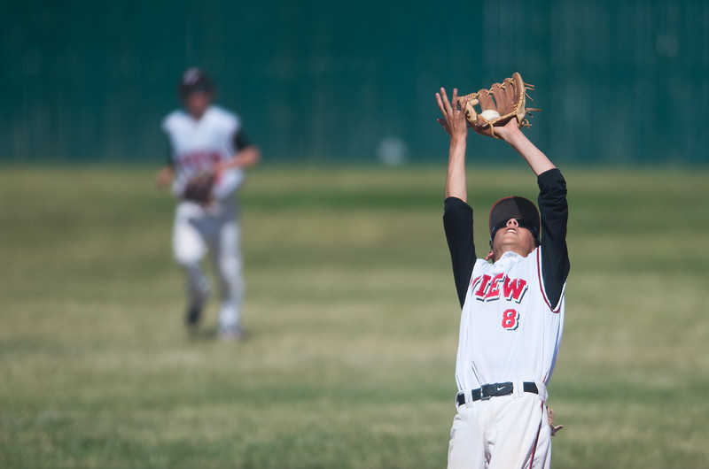"""Fairview's #8 catches the ball in the infield during the game against Silver Creek at Fairview High School on Thursday. <br /> More photos:  <a href=""""http://www.BoCoPreps.com"""">http://www.BoCoPreps.com</a><br /> (Autumn Parry/Staff Photographer)<br /> July 14, 2016"""