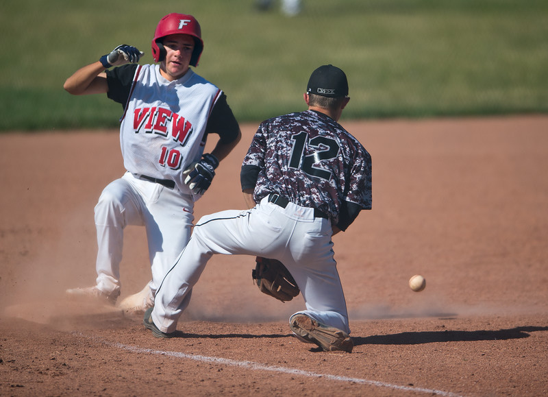 "Fairview's Clifton Smith #10 slides safely into third base during the game against Silver Creek's  #12 at Fairview High School on Thursday. <br /> More photos:  <a href=""http://www.BoCoPreps.com"">http://www.BoCoPreps.com</a><br /> (Autumn Parry/Staff Photographer)<br /> July 14, 2016"