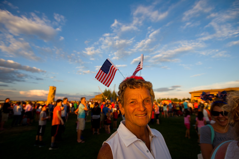 "Arlene Haley, who is visiting from Grand Junction, attends the July 3rd Extravaganza at the Colorado National Golf Club in Erie on Sunday. <br /> More photos:  <a href=""http://www.dailycamera.com"">http://www.dailycamera.com</a><br /> (Autumn Parry/Staff Photographer)<br /> July 3, 2016"
