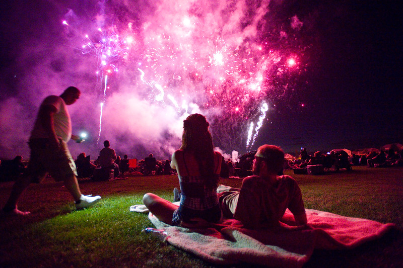 "Spectators watch the fireworks during the July 3rd Extravaganza at the Colorado National Golf Club in Erie on Sunday. <br /> More photos:  <a href=""http://www.dailycamera.com"">http://www.dailycamera.com</a><br /> (Autumn Parry/Staff Photographer)<br /> July 3, 2016"