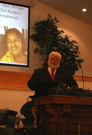 sharing the work of Vine International telling briefly of a couple of ministry friends, Refuge International, Dick Rutgers and Bethel Ministries (Saul and Hilda's stories)