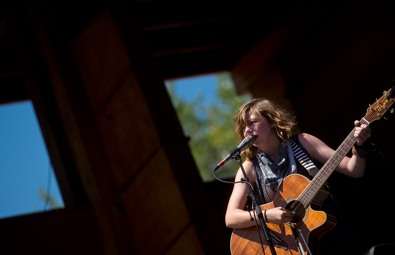 "Savannah Buist, with The Accidentals, performs during the Folks Fest in Lyons on Sunday. <br /> More photos:  <a href=""http://www.dailycamera.com"">http://www.dailycamera.com</a><br /> (Autumn Parry/Staff Photographer)<br /> August 21, 2016"