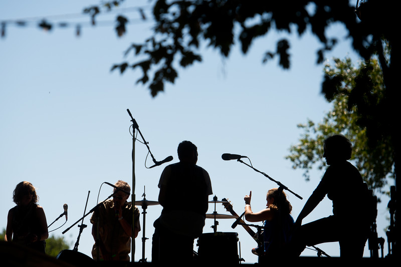 "The Accidentals set up on stage as they prepare for their performance at the Folks Fest in Lyons on Sunday. <br /> More photos:  <a href=""http://www.dailycamera.com"">http://www.dailycamera.com</a><br /> (Autumn Parry/Staff Photographer)<br /> August 21, 2016"