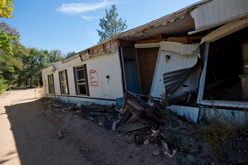 "Foothills Mobile Home Park was destroyed during the flood and the county is buying out the park.<br /> More photos:  <a href=""http://www.dailycamera.com"">http://www.dailycamera.com</a><br /> (Autumn Parry/Staff Photographer)<br /> September 29, 2016"