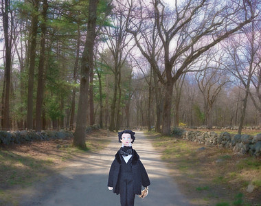 Nathaniel on the Battle Road Trail at Minute Man NHP