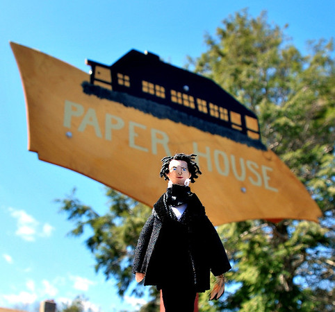 Nathaniel and the sign for the Paper House