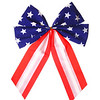 American Flag. Patriotic Bow isolated on white.