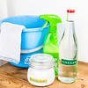 Baking soda with vinegar, natural mix for effective house cleani