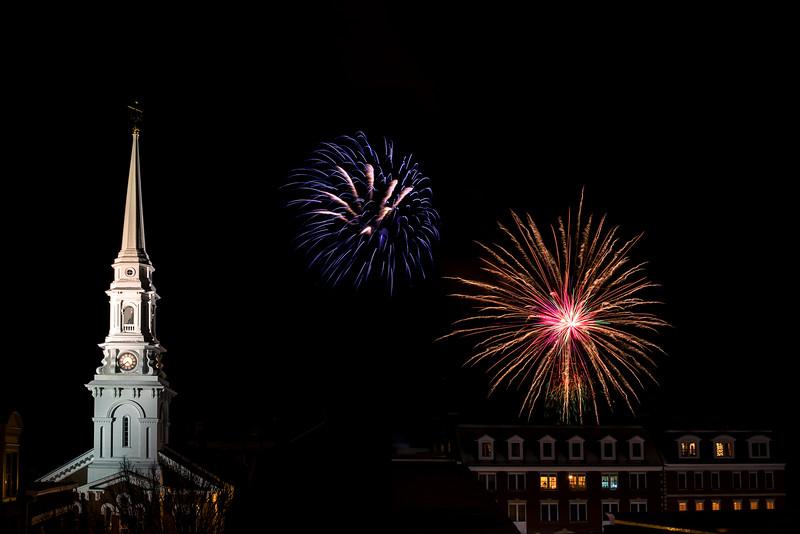 Portsmouth First Night Fireworks 2017