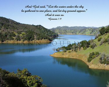 Gen 1:9 (NIV), Lake Berryessa, California.