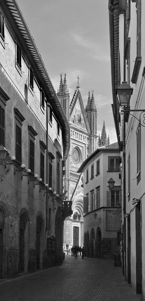 Road to the Duomo in Orvieto, Italy