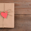 Valentines Package With Heart Tag