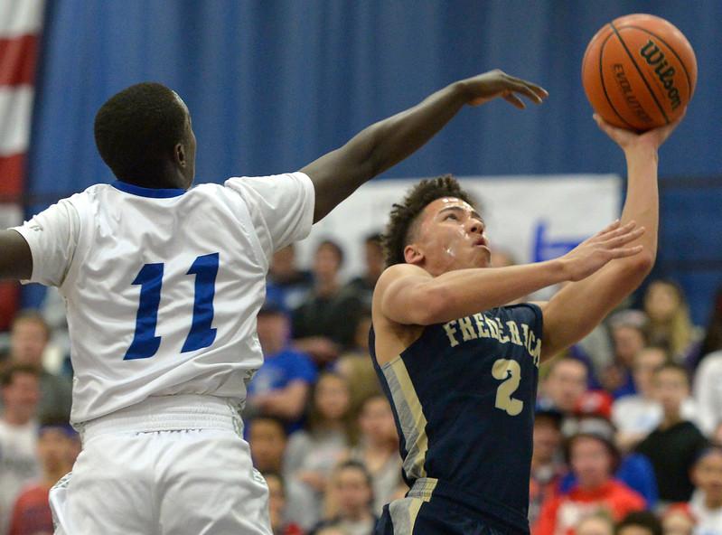 Frederick at Longmont boys playoff basketball