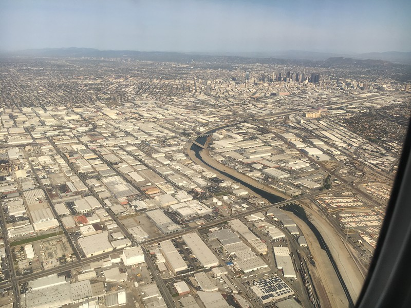 """The Los Angels """"River"""" and Downtown Los Angeles..."""