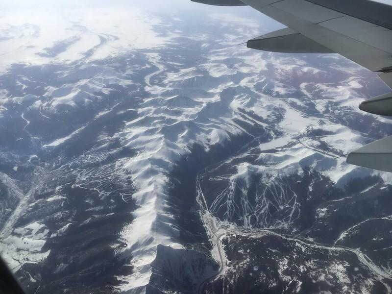 Breckenridge Ski Resort on the left, Cooper Mountain ski area on the right.