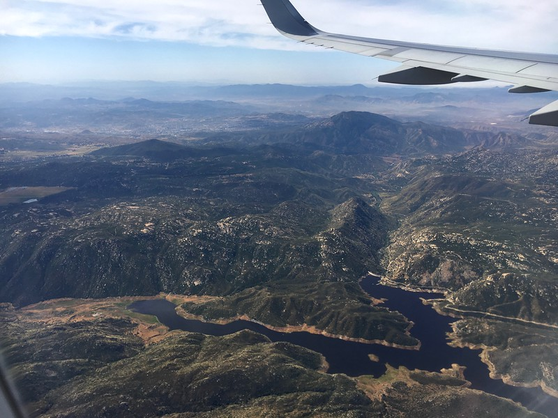 Barrett Lake in lower right; Tecate, Mexico in upper left