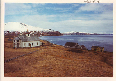 This is the now-abandoned village of Belkofski, a few miles north of King Cove on the east side of the Alaska Peninsula.  Photo taken in 1975 or '76 when I was working up and down the Aleutian Chain.
