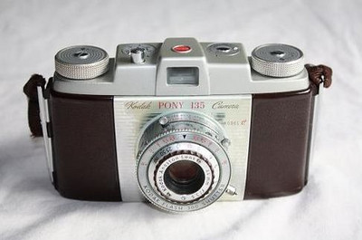My first 35mm camera, bought in 1956.  Opened up a whole new world of photography for me when I started shooting slide film, then (after Kodak came out with Ektachrome in the mid-50's) began to develop my own color slide film.