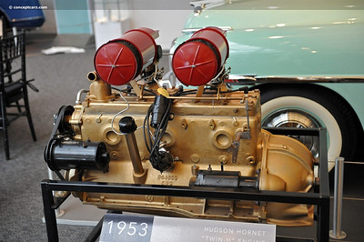 "The flathead six with dual carbs that added the title ""Twin-H"" to the car's name.  It was reputed to be able to ""pass everything but a gas station""."