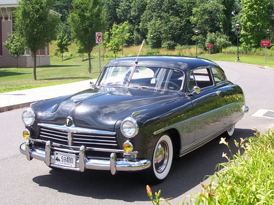 "1949 Hudson Super Six 2-Door Coupe - This was the first car I ever owned, purchased in 1955 for the grand sum of $100.  It had been beat, had a loud glass-pack muffler, and my buddies nicknamed it ""The Monster""."