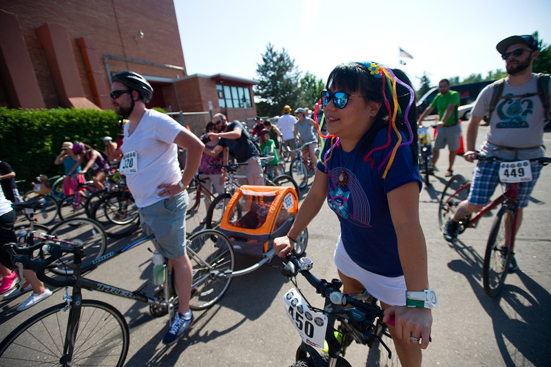 """Jen Esposito lines up to participate in the G'Knight ride at Roosevelt Park in Longmont on Saturday.<br /> More photos:  <a href=""""http://www.dailycamera.com"""">http://www.dailycamera.com</a><br /> (Autumn Parry/Staff Photographer)<br /> June 18, 2016"""