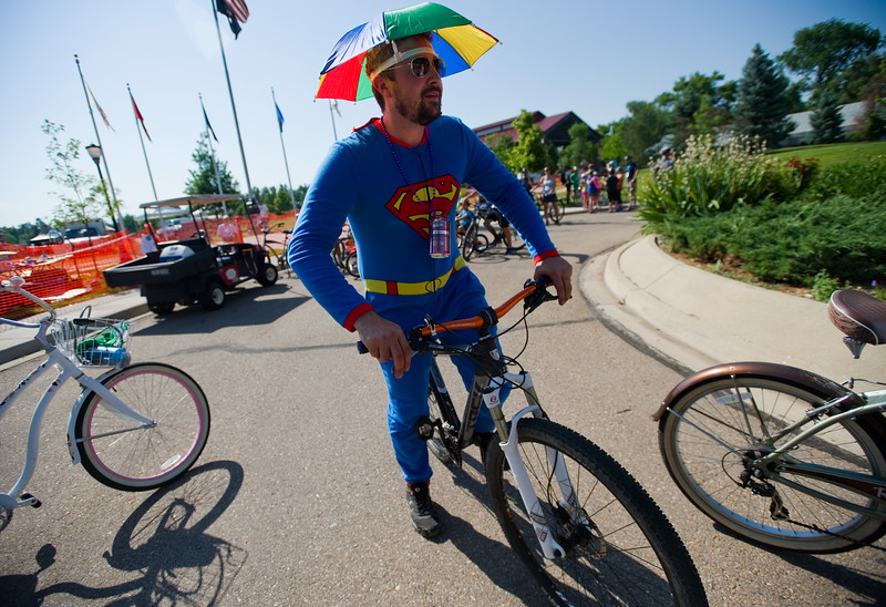 """Matthew Beverly lines up to participate in the G'Knight ride at Roosevelt Park in Longmont on Saturday.<br /> More photos:  <a href=""""http://www.dailycamera.com"""">http://www.dailycamera.com</a><br /> (Autumn Parry/Staff Photographer)<br /> June 18, 2016"""