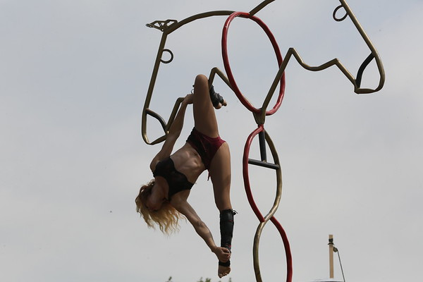 Photos: Gladius the Show equestrian acrobatics at the fair