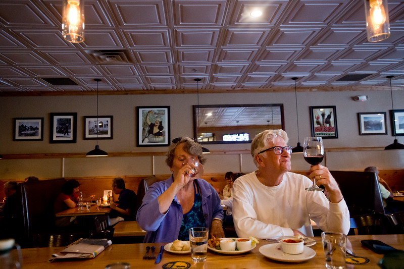 """Julie Golden and Judd Golden dine for dinner at the Gondolier Italian Eater in Boulder on Friday. Gondolier will be opening up a new location in Longmont.  <br /> For more photos go to  <a href=""""http://www.dailycamera.com"""">http://www.dailycamera.com</a><br /> (Autumn Parry/Staff Photographer)<br /> August 26, 2016"""