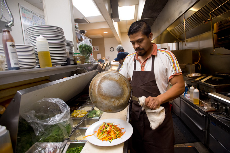 "Adan Bretado, a line cook, prepares food in the kitchen at the Gondolier Italian Eater in Boulder on Friday. Gondolier will be opening up a new location in Longmont.  <br /> For more photos go to  <a href=""http://www.dailycamera.com"">http://www.dailycamera.com</a><br /> (Autumn Parry/Staff Photographer)<br /> August 26, 2016"