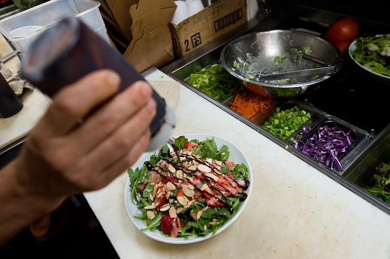 "A cook prepares a salad in the kitchen at the Gondolier Italian Eater in Boulder on Friday. Gondolier will be opening up a new location in Longmont.  <br /> For more photos go to  <a href=""http://www.dailycamera.com"">http://www.dailycamera.com</a><br /> (Autumn Parry/Staff Photographer)<br /> August 26, 2016"