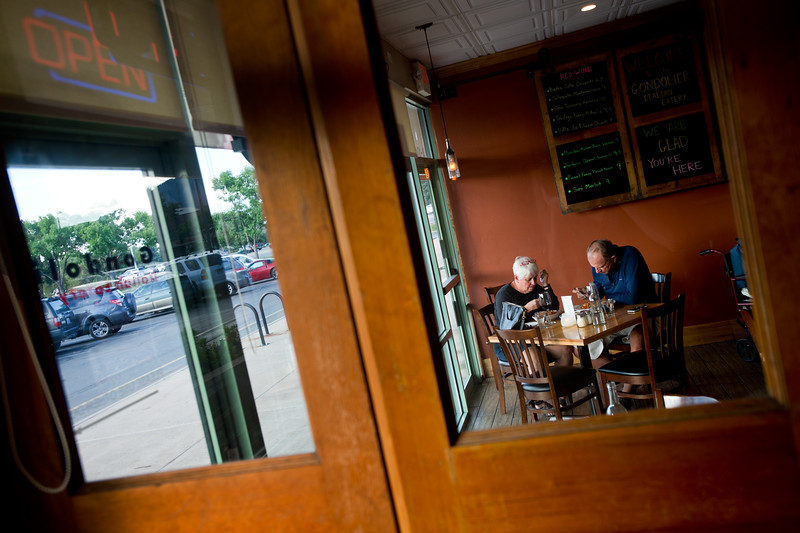 "Kathy Brack and her husband Joe Brack enjoy pasta dishes while they dine at the Gondolier Italian Eater in Boulder on Friday. Gondolier will be opening up a new location in Longmont.  <br /> For more photos go to  <a href=""http://www.dailycamera.com"">http://www.dailycamera.com</a><br /> (Autumn Parry/Staff Photographer)<br /> August 26, 2016"