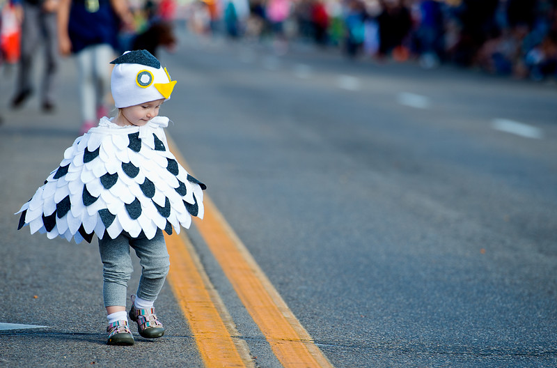 "Mia Merson, dressed as a bird, walks in the annual Halloween Parade and Trick or Treat Street in Longmont on Saturday. <br /> More photos:  <a href=""http://www.dailycamera.com"">http://www.dailycamera.com</a><br /> (Autumn Parry/Staff Photographer)<br /> October 29, 2016"