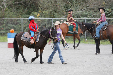 The Haunted Horse event in the Blue Lake Arena on Saturday featured children, adults, and horses dressed up, an obstacle course, candy and prizes. (Shaun Walker -- The Times-Standard)