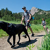 """Co-founders Stephen Hillen and Kath Allen walk with Henry and LuLu during a hike at  Chautauqua Park on Friday. Hike Doggie, the new Golden-based dog hiking service, has expanded to Boulder.<br /> More photos:  <a href=""""http://www.dailycamera.com"""">http://www.dailycamera.com</a><br /> (Autumn Parry/Staff Photographer)<br /> June 17, 2016"""