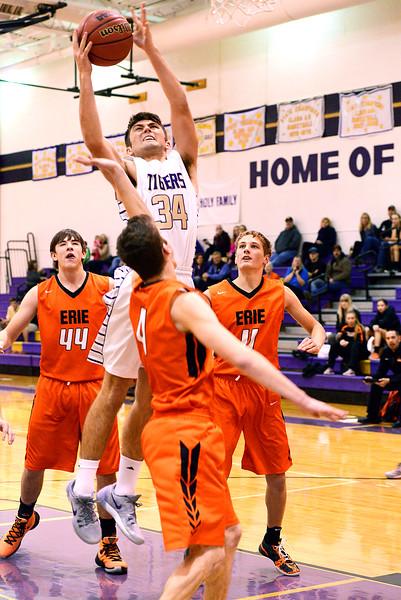 Erie High School verse Holy Family basketball