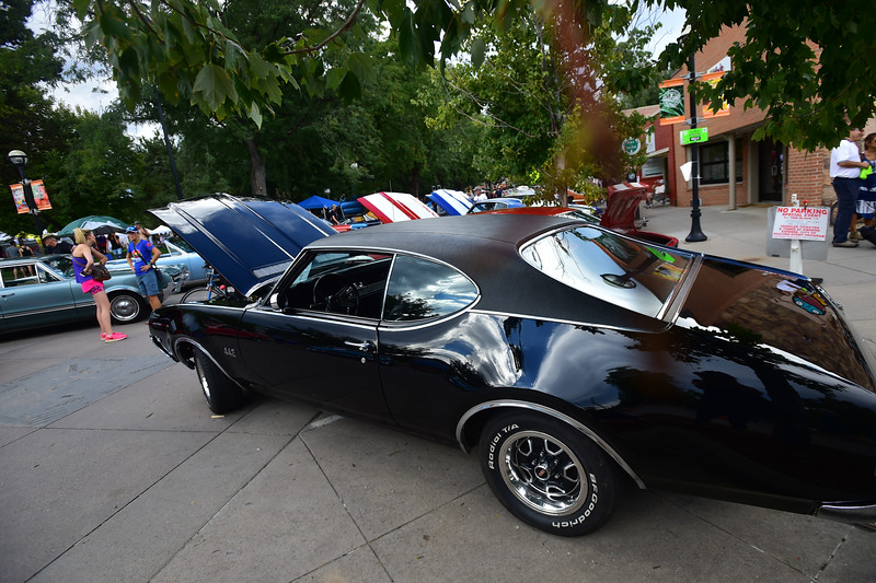 "Alex Cherubin's 1969 Oldsmobile on display during the car show at the Hometown Fair in Boulder's Central Park on Sunday.<br /> More photos:  <a href=""http://www.dailycamera.com"">http://www.dailycamera.com</a><br /> (Autumn Parry/Staff Photographer)<br /> September 4, 2016"