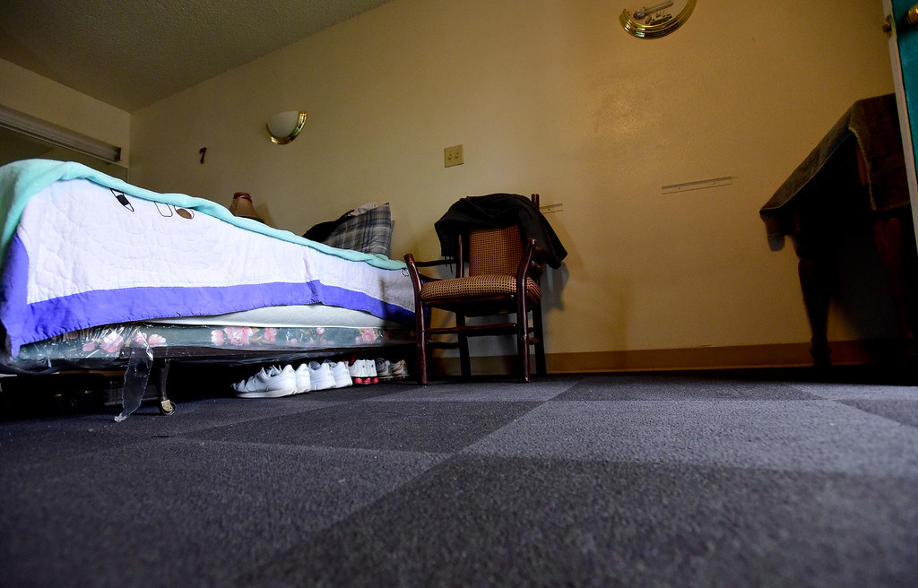 . The interior of a Briarwood Apartments is seen in Longmont on Tuesday. People who stay in the apartments have to obey a strict set of rules. More photos: TimesCall.com. Matthew Jonas/Staff Photographer March 28,  2017