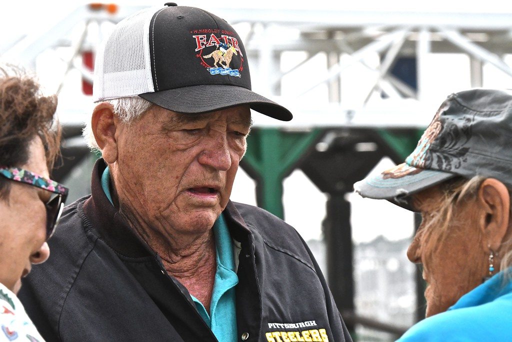 """. \""""Bob\"""" has been the Ferndale Racetrack starting gate official for decades. José Quezada�For Times-Standard"""