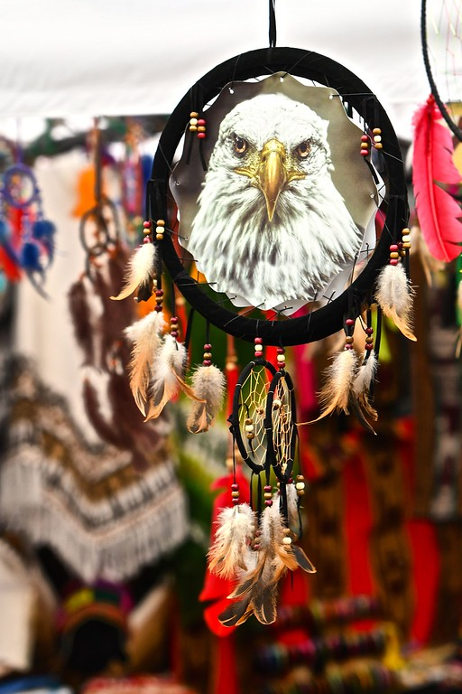 . A long look from one of many trinkets and jewelry available on the fairway of the fair.  CJ Hindley Humboldt Marathon. José Quezada�For Times-Standard