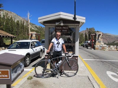After a hard climb from Lee Vining.