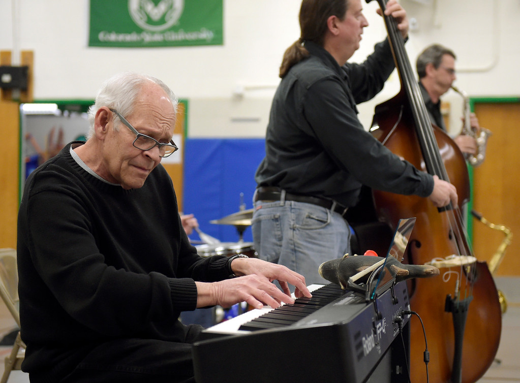 . NIWOT, CO - JANUARY 11: Tony Gulizia leads the jazz quintet performing for fifth graders January 11, 2019 at Niwot Elementary School. (Photo by Lewis Geyer/Staff Photographer)