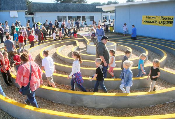 Photos: Labyrinth opened at Peninsula Union School