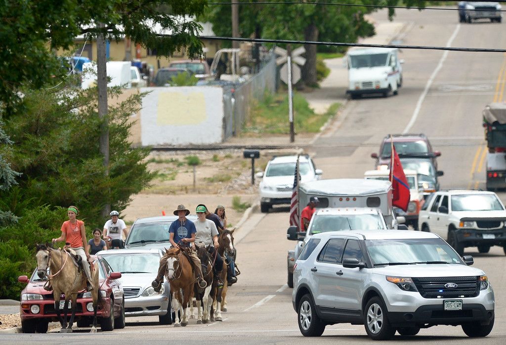 . The Lakota Ride 2017 makes its way up Gay Street Tuesday. The 400-mile ride, which started in Golden Saturday, raises money and awareness for families living on the Pine Ridge Reservation in South Dakota. It is expected to end at the reservation in mid August. To view more photos and a video visit timescall.com. Lewis Geyer/Staff Photographer July 25, 2017