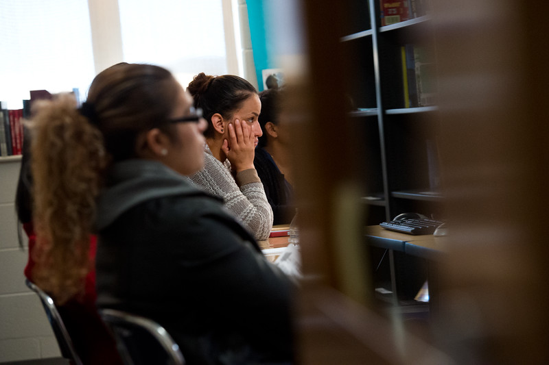 "Magali Botello attends a workshop during the Latino Parent Summit at Casey Middle School in Boulder on Saturday. <br /> More photos:  <a href=""http://www.dailycamera.com"">http://www.dailycamera.com</a><br /> (Autumn Parry/Staff Photographer)<br /> October 8, 2016"