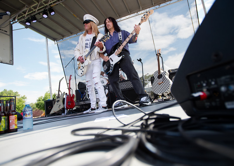"The Denver Dream Police, a Cheap Trick tribute band, performs during the Mile High Tribute Band Competition at Leftapalooza in Roosevelt Park in Longmont on Saturday. Left Hand Brewing Company's event raised funds and support for the Leukemia & Lymphoma Society and the Left Hand Brewing Foundation.<br /> More photos:  <a href=""http://www.dailycamera.com"">http://www.dailycamera.com</a><br /> (Autumn Parry/Staff Photographer)<br /> August 6, 2016"