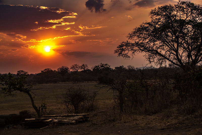 Sunset, Vwaza Marsh Wildlife Reserve